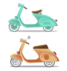 Vintage scooter vector
