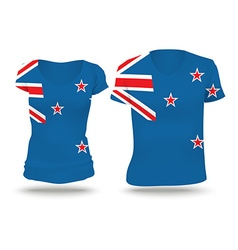 Flag shirt design of new zealand vector