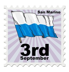 Post stamp of national day of san marino vector