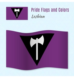 Lesbian pride flag with correct color scheme vector