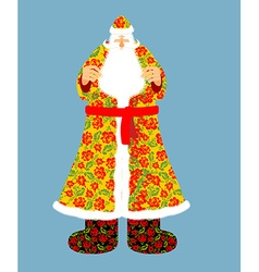 Russian santa claus grandfather frost cloak in vector
