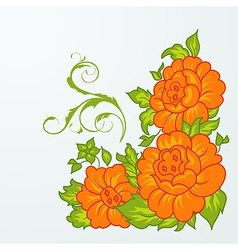 cute orange flowers isolated - vector image