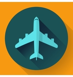 Airplane - icon  flat design vector