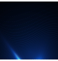 3d illuminated abstract digital wavy background vector