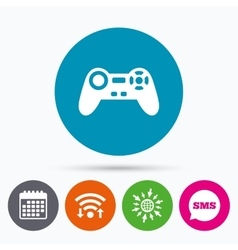 Joystick sign icon video game symbol vector