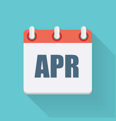April dates flat icon with long shadow vector