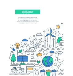 Ecology - line design brochure poster template a4 vector
