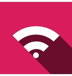Wi-fi network icon flat design style eps vector