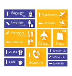 Airport Navigation Infographic Design Elements vector image