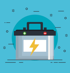 car battery isolated icon vector image