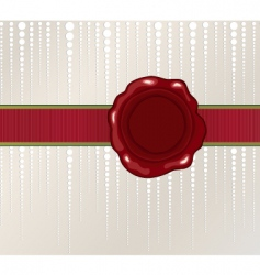 Christmas wax seal vector image vector image