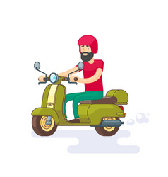 Colorful moped template vector