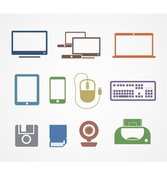 Digital stuff icons vector image vector image