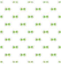 Eyeballs pattern cartoon style vector