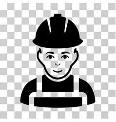 Glad worker icon vector
