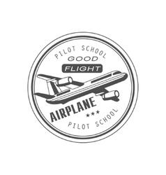 Good flight club emblem design vector