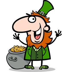 happy Leprechaun cartoon vector image vector image