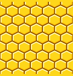Honeycomb pattern cells background vector