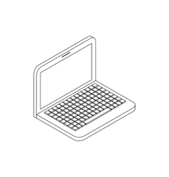 Laptop icon isometric 3d style vector image
