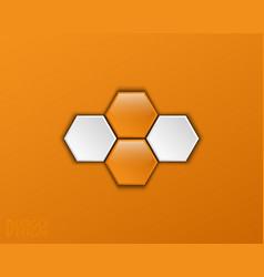 logo design based on hexagons vector image vector image