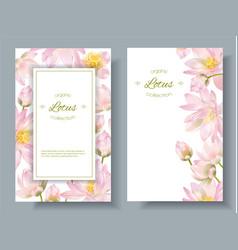 Lotus flower banners vector