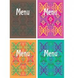 Mexican menu vector