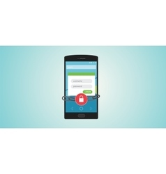 mobile authentication vector image vector image