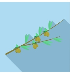 Olive branch icon flat style vector image