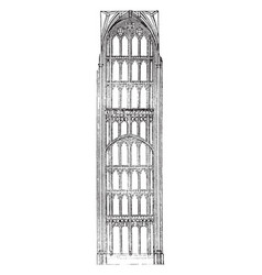 Perpendicular style english-gothic architecture vector