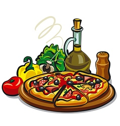 pizza hot vector image vector image