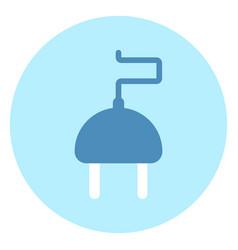 plug or socket icon on blue background vector image