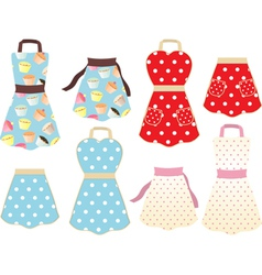 Retro styled cooking aprons vector