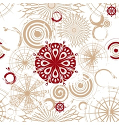 seamless background with beige circles vector image vector image