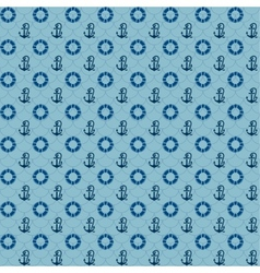 Seamless patterns navy anchors and lifebuoy vector