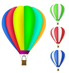 Set of colorful hot air balloon vector