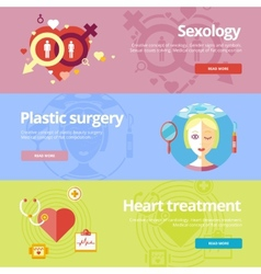 Set of flat design concepts for sexology plastic vector