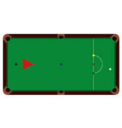 Snooker table vector image vector image