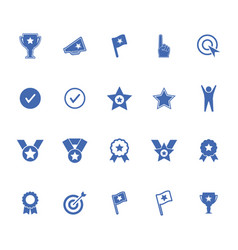 success winning sports and business icons set vector image