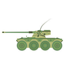 Tank military war icon isolated flat armor battle vector