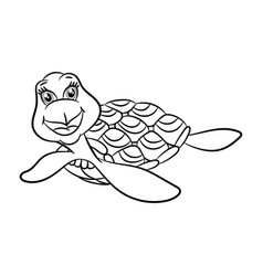 turtles coloring book vector image