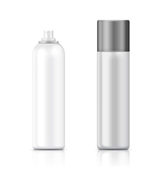 White and silver sprayer bottle template vector image vector image