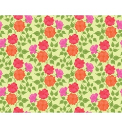 Colorful flower seamless background vector image