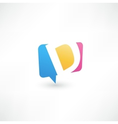 Abstract bubble icon based on the letter d vector