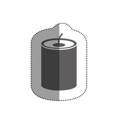 Isolated candle design vector