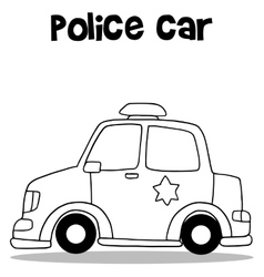 Hand draw of police car vector image