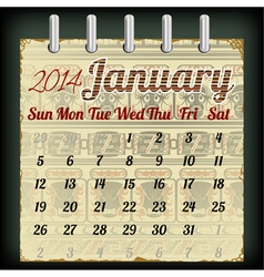 Calendar for january 2014 vector