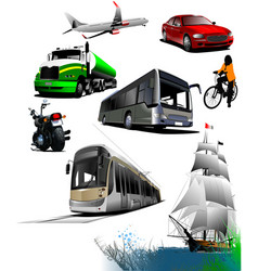 all kinds of transport vector image