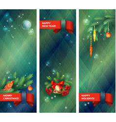 Vertical Holidays Christmas Banners vector image