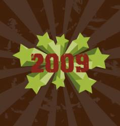 2009 retro background vector image vector image