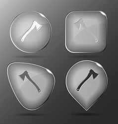 Axe glass buttons vector